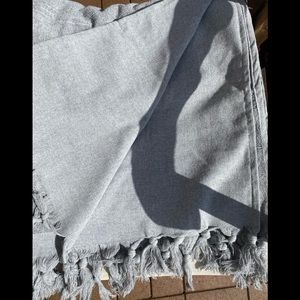 Double Sided Oversized Hand Loomed Fringed Towel
